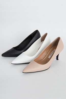P8286牛皮修身高跟鞋(225-250)