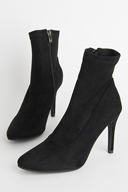 P8396麂皮跨度袜子踝靴(9cm.225-250)