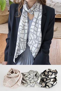 P8435天然线条图案长围巾