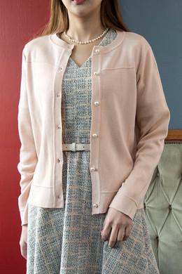 P8756浪漫珍珠羊毛开衫