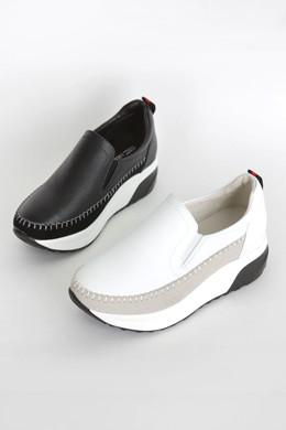 P8748牛皮麂皮贴布便鞋
