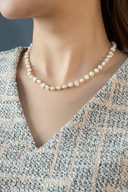 P8744丑陋的淡水珍珠项链
