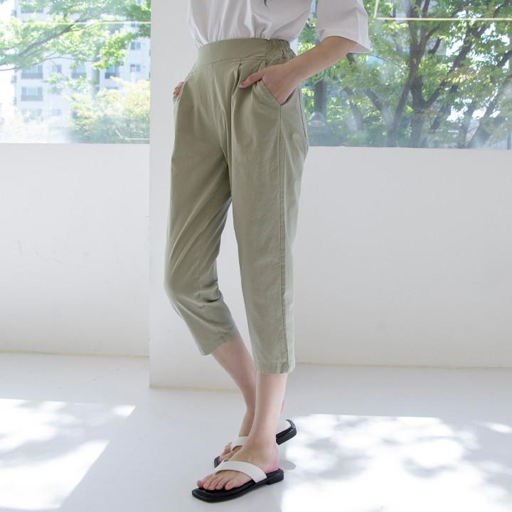 P9684夏季亚麻混纺7裤(SML)